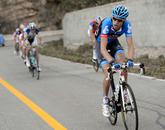 Hesjedal doesn't know how strong he is - he's momentarily dropped everyone else..!