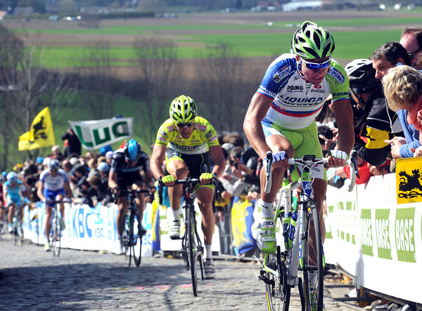 Peter Sagan is the closest chaser...