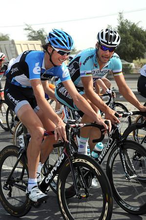 Are former winners Johan Van Summeren and Tom Boonen discussing the 2012 Paris-Roubaix..?