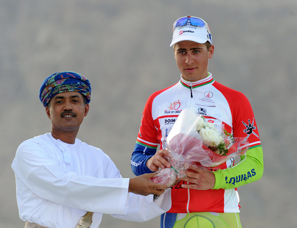 Peter Sagan becomes race-leader because of his win today...