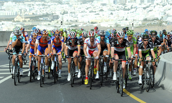 The peloton is climbing the hill very steadily with such a tough finale to come...