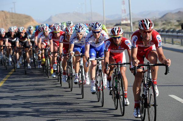 Katusha is maintaining its control of the chase, and the escapers are about ot be caught...