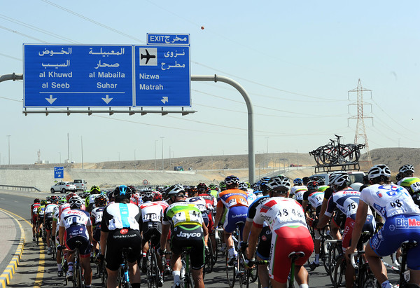 Another day means another motorway in the Tour of Oman...