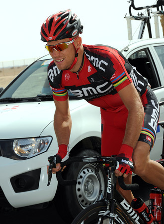 Thor Hushovd is a familiar face in an unfamiliar jersey of BMC...