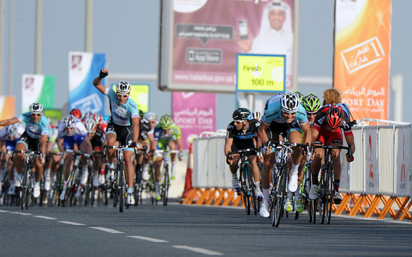 The sprint is almost over way before the line - with a familiar figure out in front..!