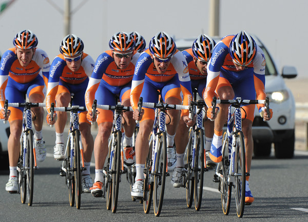 Rabobank rode to a solid 9th place at seventeen seconds...
