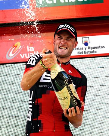 Steven Cummings celebrates his win - Joachim Rodriguez remains race-leader...