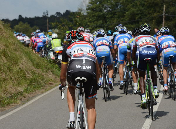 Laurent Didier, the Luxemburg champion, is also getting dropped on the first hills...