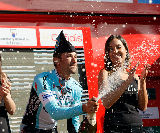 Dario Cataldo won stage sixteen, kicking away from De Gendt in the last 200-metres...