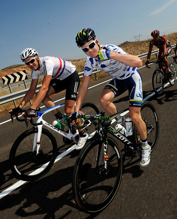 """""""Call me maybe?"""", asks Simon Clarke, leader of the climber's competition in the Vuelta..."""