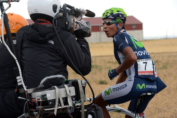 Colombia's Quintana is entertaining TV viewers after the feed-zone...