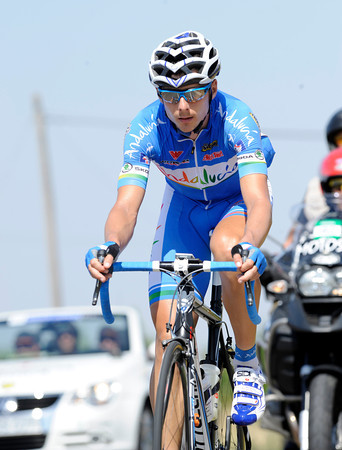 Javier Chacon drew the short straw today - he rode alone in front for 139-kilometres..!