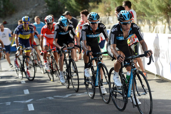 Henao and Uran are now setting the pace for Froome - he he going to attack..?