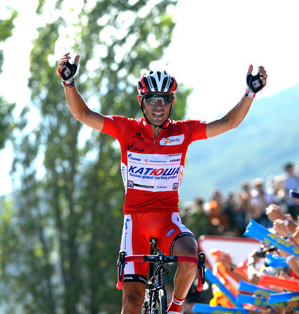 Joachim Rodriguez wins stage six, five-seconds ahead of Froome, and a huge 18-seconds ahead of Contador..!