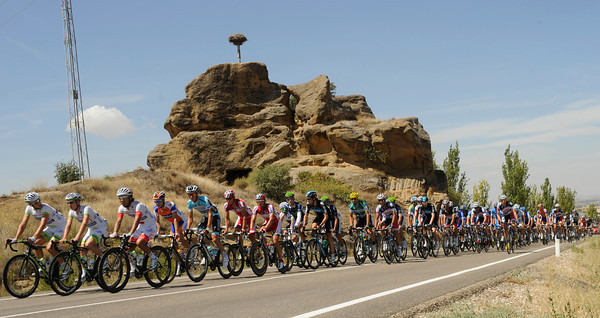 Arghos is leading a peloton not too concerned about the escape - yet...