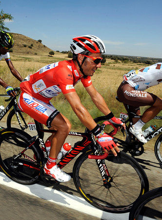Joachim Rodriguez can afford to relax a bit between the Vuelta's uphill stage-finishes...