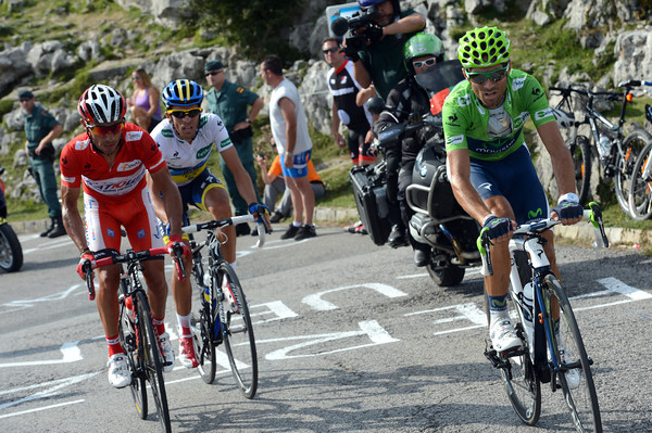 Valverde leads Rodriguez and Contador - is this the final podium of the Vuelta..?