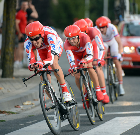 Katusha raced to 8th place, 15-seconds down...