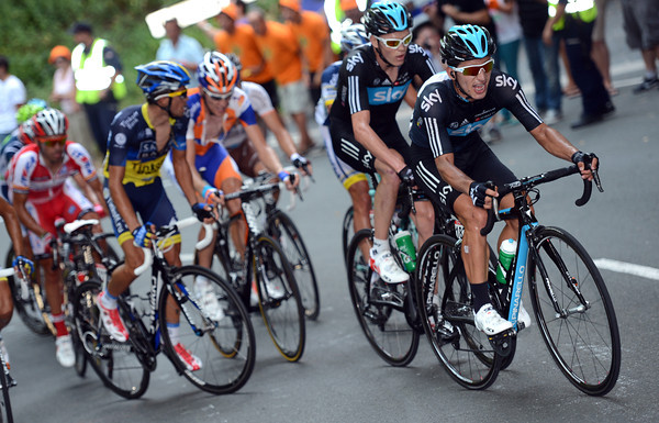 Sergio Henao and Chris Froome spark the flame now...