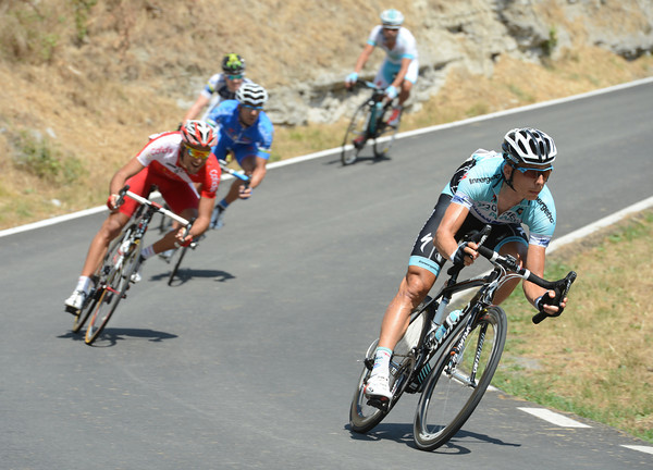 Tony Martin is in the escape too - he's helped them to gain an advantage of ten minutes before the first big climb...