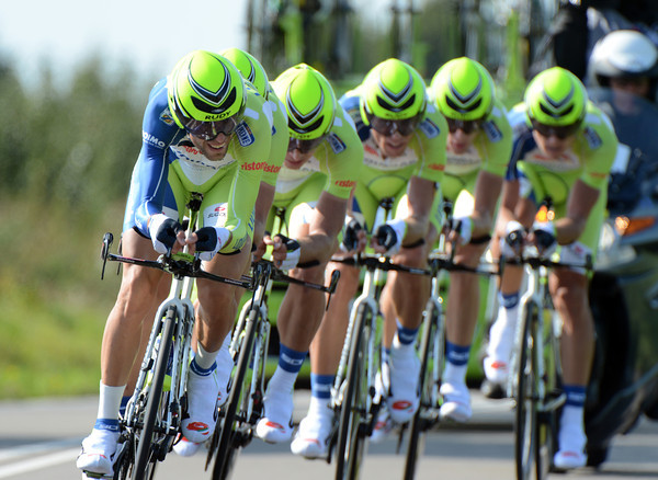 "Vincenzo Nibali led Liquigas to a great fourth place, 1' 05"" down..."