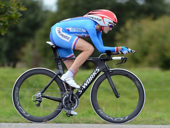 """Martina Sablikova led from an early start, but the Czech rider ended in 9th, 1' 59"""" down..."""
