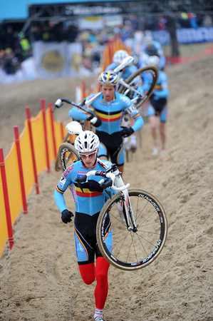 Pauwels leads an all-Belgian train in pursuit of the flying Albert...