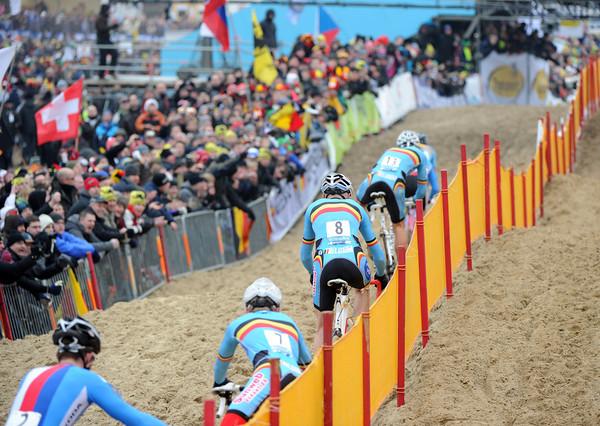 The all-Belgian pursuit has Radomir Simunek hanging on...