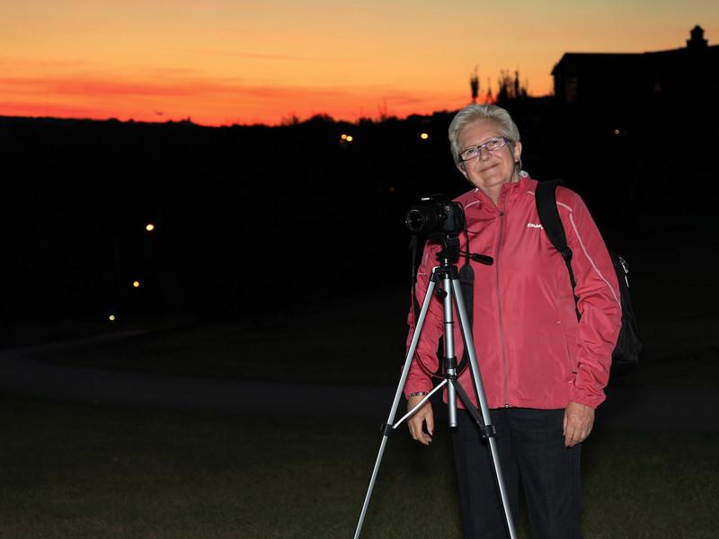 Ellen on Night Photo Safari
