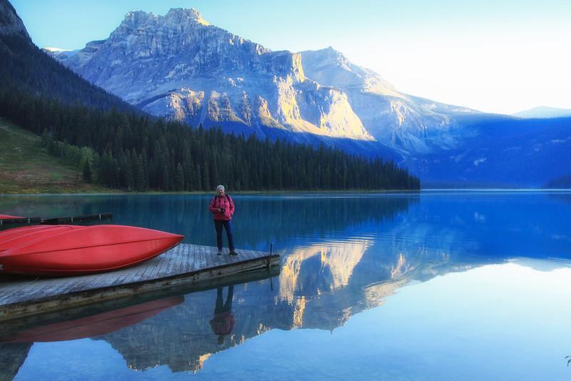 Ellen at Emerald Lake