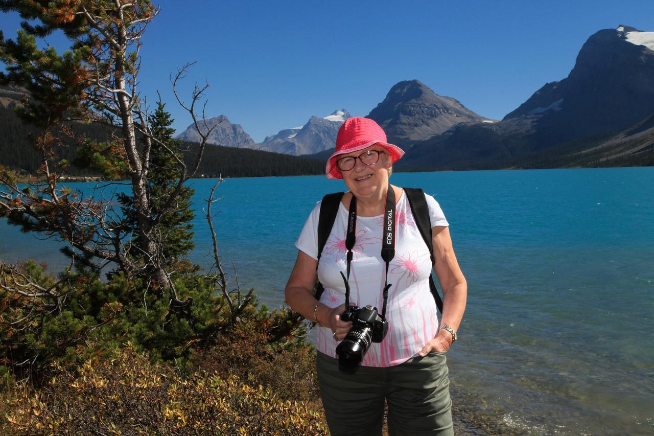 Ellen at Bow Lake