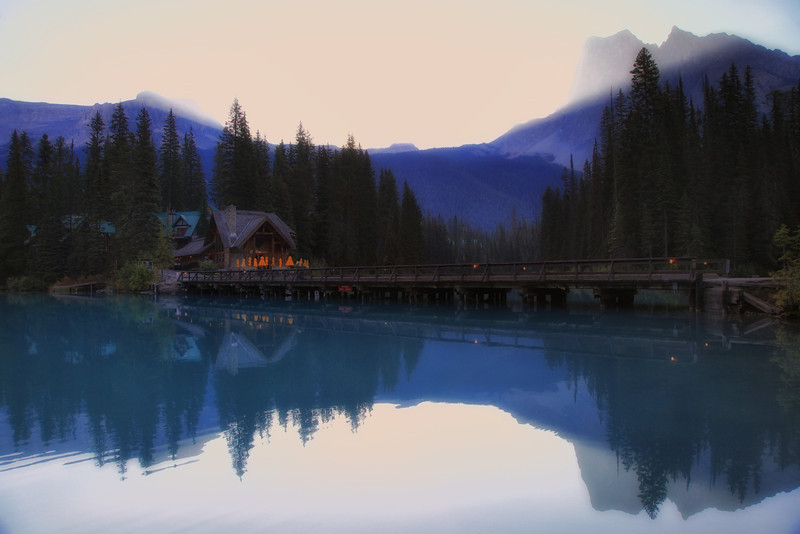 Sunrise at Emerald Lake