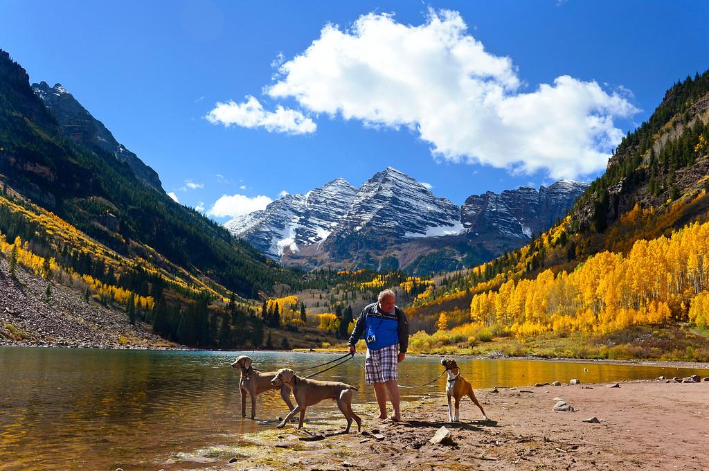 . Maroon Bells, Aspen, Colorado. Friday, September 28, 2012.  (Photo by Mahala Gaylord, The Denver Post)