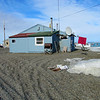 OUr residence in Gambell - typical Yupik housing.