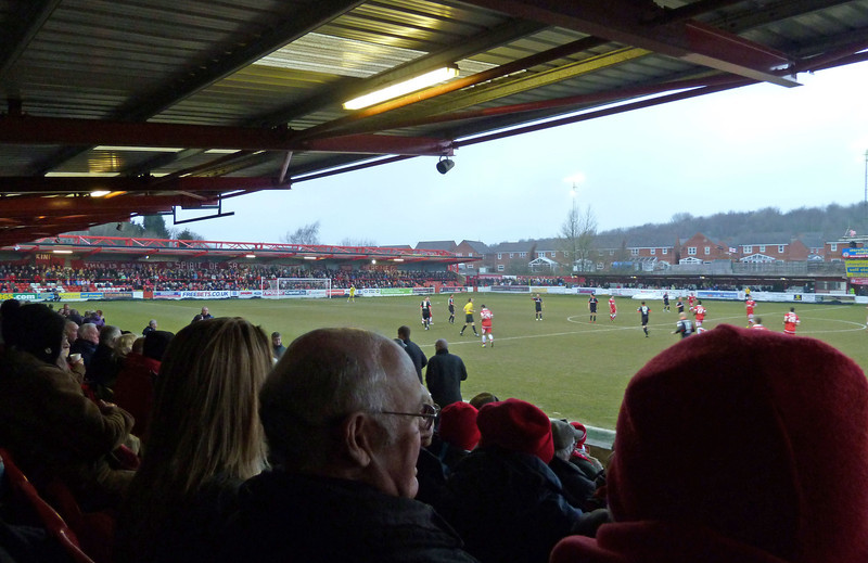 Accrington Stanley beating Morecambe 2-0 on Friday 12th April 2013
