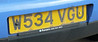 Purser Garage registration plate