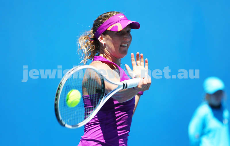 Australian Open Day 2. January 15. Round 1. Shahar Peer (ISR) def Alexandra Panova (RUS) 6-4 1-6 6-3. Photo: Peter Haskin