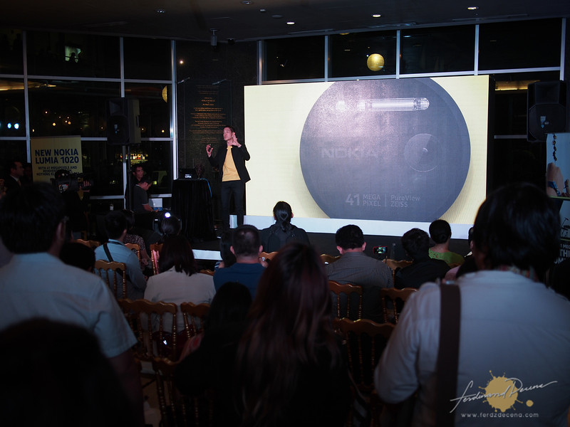 The Nokia Lumia 1020 launch with Gary Chan, Nokia Pan Asia Head Marketing, discussing the features
