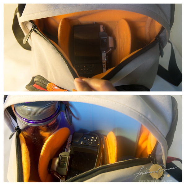 The main bag compartment