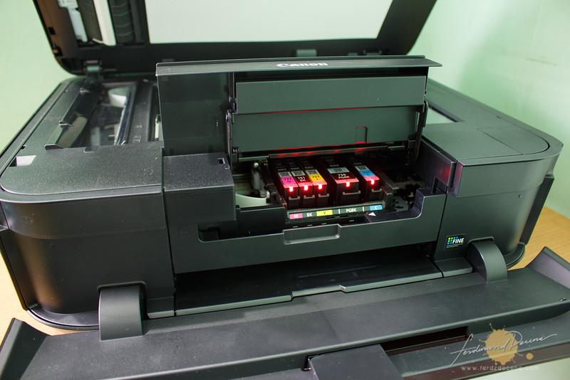Printer uses individual ink tanks