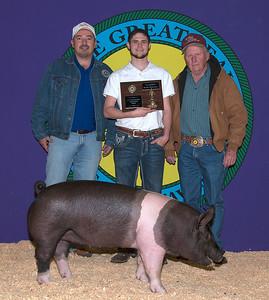 Colt Conner of Tuttle wins Champion Senior Showman for Swine