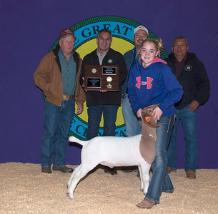Peyton Mobbs of Tushka wins Meat Goat Grand Champion