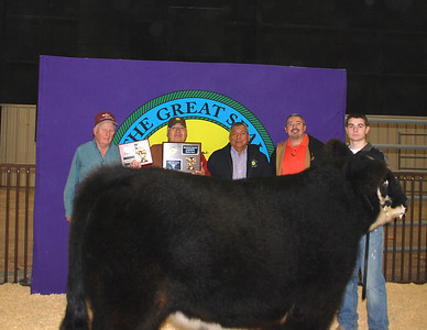 Colby Jones wins Market Steer Reserve Grand Champion and Market Steer Reserve Breed Champion