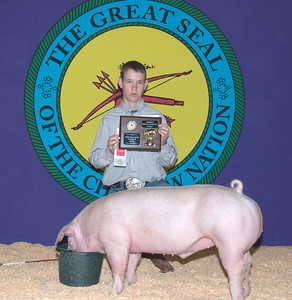 Eathen Bean of Broken Bow wins Chester Reserve Breed Champion