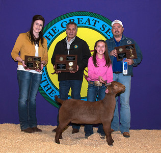 Jaycee Watkins of Calera wins Meat Goat Reserve Grand Champion and Meat Goat Junior Showman Champion