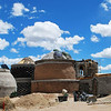 Earthship under construction at the World Earthship Community.