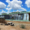 Earthship green house.  This is actually part of the temperature regulating system.