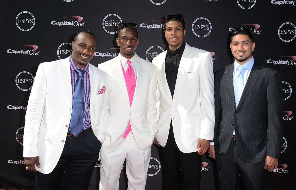 . Members of the Louisville men\'s basketball team arrive at the ESPY Awards on Wednesday, July 17, 2013, at Nokia Theater in Los Angeles. (Photo by Jordan Strauss/Invision/AP)