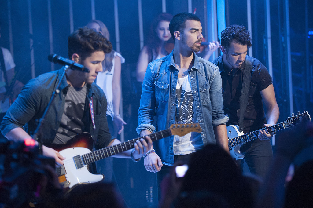 . August 16, 2013: Jonas Brothers<br /> <br />Nick Jonas, Joe Jonas and Kevin Jonas are seen performing at Live at Much With Jonas Brothers at the MuchMusic Headquarters on Wednesday, July 17, 2013, in Toronto, Canada. (Photo by Arthur Mola/Invision/AP)