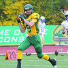 Fitchburg State Football team played Worcester State on Saturday at home. FSU player Ty Spencer makes a nice catch and runs it in for the teams second touchdown of the game. SENTINEL & ENTERPRISE/ JOHN LOVE